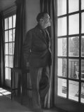 Author Somerset Maugham Gazing Out French Window onto Patio, at Home Metal Print by Serge Balkin
