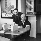 Realtor Herbert Greenwald with Architect Mies Van Der Rohe Premium Photographic Print