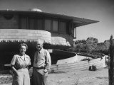 Frank Lloyd Wright's House for His Son David Wright, Made of Concrete Blocks Premium Photographic Print by J. R. Eyerman