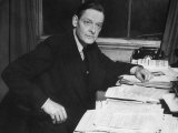 Writer T. S. Eliot Working at His Desk Premium Photographic Print by Bob Landry