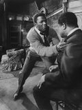 "Actor Sidney Poitier in a Scene from the Play ""A Raisin in the Sun"" Premium Photographic Print"