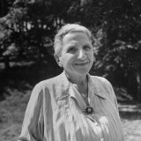 Author Gertrude Stein Outdoors Alone Premium Photographic Print by Carl Mydans