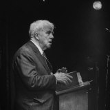Poet Robert Frost Reading His Poetry Premium Photographic Print