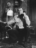 """Ernest Borgnine, Talking on Phone, in Scenes from the Movie """"Marty"""" Premium Photographic Print by Allan Grant"""