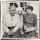 Author Gertrude Stein Sitting with Alice B. Toklas at a Villa Premium Photographic Print by Carl Mydans