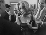 Young Actress Jane Fonda at a Cocktail Party Given for Her Premium Photographic Print by Allan Grant
