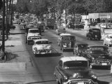 Cars Filling the Roadway on Route 1 Between Washington and Baltimore Premium Photographic Print by Ed Clark