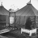 A View of Tents at Fort Dix Premium Photographic Print by George Strock