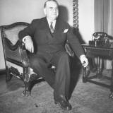 Minister of Foreign Affairs Constantin Tsaldaris Sitting Premium Photographic Print by Dmitri Kessel