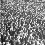 Crowds Listening to Communist Speaker During Election Campaign Premium Photographic Print by Dmitri Kessel