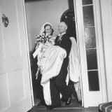 Governor J. Strom Thurmond of South Carolina Carrying His New Bride Premium Photographic Print by Ed Clark
