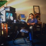 Composer Elliot Goldenthal Working at Home Premium Photographic Print by Ted Thai