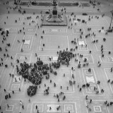 "Crowds Gathering in Piazza Del Duomo, ""Soap Box"" Center Premium Photographic Print by Dmitri Kessel"