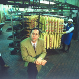 Hansel 'N Gretel Salesman Jay Zeilberger in Deli Meats Plant Premium Photographic Print by Ted Thai