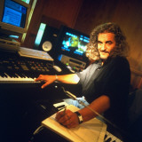 Composer Michael Kamen Working at Home Premium Photographic Print by Ted Thai