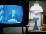 TV Image of President Richard M. Nixon Announcing His Resignation in Speech from the Oval Office Premium-Fotodruck von Gjon Mili