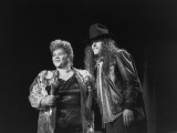 Etta James Performing with Ted Nugent on Stage at Country-Rock Crossover Concert in the Silverdome Premium Photographic Print by Albert Ferreira