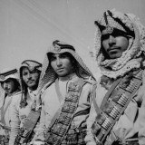 Members of the Arab Legion Wearing their Picturesque Head-Dresses Premium Photographic Print by James Jarche