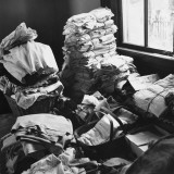 Large Piles of Cloth Waiting to Be Sold at the Auction Premium Photographic Print by William Vandivert