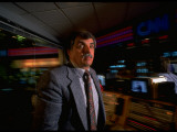 CNN Bob Furnad on Job, Fielding Breaking Stories, at Cable News Network Headquarters in Atlanta Premium Photographic Print by Ted Thai