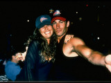 MTV Personalities Daisy Fuentes and Dan Cortese Cuddling at Honolulu Planet Hollywood Opening Premium Photographic Print by Albert Ferreira