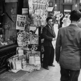 Newsstand in Santiago, Showing the Great Influence of American Magazines There Premium Photographic Print by Hart Preston