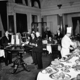 General View of Coffee Room at Naval and Military Club Premium Photographic Print by Hans Wild