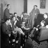 Students at Oxford University Attending a Beer Party Premium Photographic Print by William Vandivert