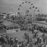 Families Enjoying the Texas State Fair Premium Photographic Print by Cornell Capa