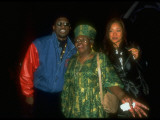 Wesley Snipes Standing with Grandmother Ruth Carter and Dancer Yuko Sumida at Planet Hollywood Premium Photographic Print by Albert Ferreira
