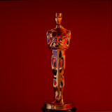 Oscar Statuette at Academy Awards Theater, Hollywood Premium Photographic Print by Bill Eppridge