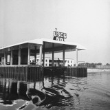 View of Boatslip at a US Coast Guard Air Station Premium Photographic Print by David Scherman