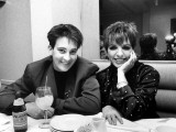 Country/Western Singer KD Lang with Actress Liza Minnelli at a Party to Celebrate Lang's Concert Premium Photographic Print