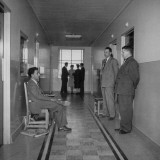 Police Guarding Hospital Room of Labor Leader Walter P. Reuther Premium Photographic Print by Tony Linck