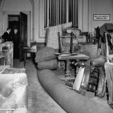 View of Salvaged Furniture Being Stored in Billiards Room at Naval and Military Club Premium Photographic Print by Hans Wild