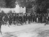 Mussolini Leading Militia, Politicos and Black Shirts in His March on Rome, the Birth of Fascism Premium Photographic Print