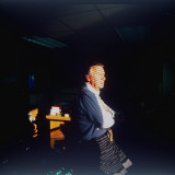 Co-Anchor Robert Macneil in His Office after Announcing His Retirement from PBS TV, 1995 Premium Photographic Print by Ted Thai