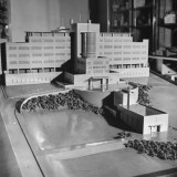 Close-Up of Model of St. Dunstan's Hospital Premium Photographic Print by Hart Preston