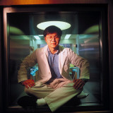 Virologist Dr. David Ho at Aaron Diamond Aids Research Center Premium Photographic Print by Ted Thai