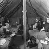 General View of Tent Ward at Casualty Clearing Station Premium Photographic Print by William Vandivert