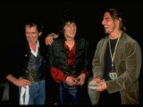 Tom Cruise Chatting with Keith Richards and Ron Wood before Rolling Stones Concert, Las Vegas Premium Photographic Print