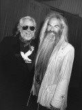 Country-Rock Singers Ronnie Hawkins and William Lee Golden Backstage at Concert in the Silverdome Premium Photographic Print by Kevin Winter