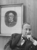 Mayor Charles P. Farnsley Sitting in His Office in Front of a Portrait of General Robert E. Lee Premium Photographic Print by Martha Holmes