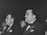 "FBI Chief J. Edgar Hoover, Watching Special Performance of ""Hellzapoppin,"" a Musical Comedy Show Premium Photographic Print by David Scherman"