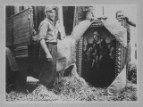 Germans Unloading Paintings Taken from Uffizi Museum to Be Hidden for Safekeeping During War, WWII Premium Photographic Print by Marty Katz