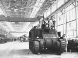 Assembling Sherman Tanks, Aiding War Effort on Home Front During WWII, Chrysler Plant in Detroit Premium Photographic Print by Gordon Coster