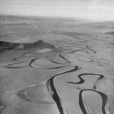 Aerials Showing Deep River Valleys Taken by Explorers Premium Photographic Print by Jack Birns