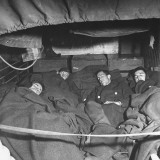 Soldiers Sleeping in a Cramped Bunker Premium Photographic Print by George Strock