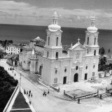 A View Showing the Church of Sao Sosme and Sao Daimas Premium Photographic Print by Hart Preston