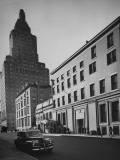 The Whitney Museum on 8th St. in Greenwich Village, with 1 Fifth Ave. Prominent in Background Premium Photographic Print by Andreas Feininger